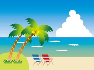 椰子の木のあるビーチ