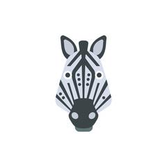 Zebra African Animals Stylized Geometric Head