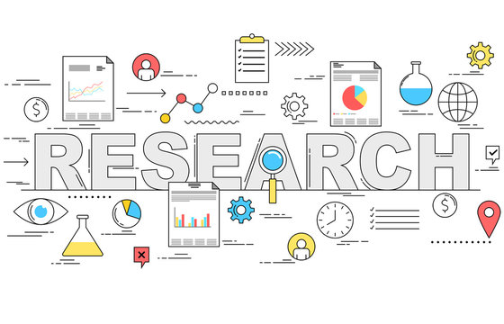 Market research and analysis concept illustration