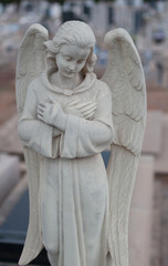 angel of death in cemetery