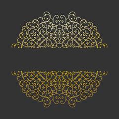Vintage vector background with decorative floral elements.
