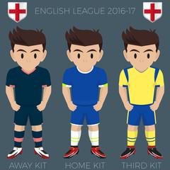 Liverpool Football / Soccer Club Kits 2016/17 Premier League