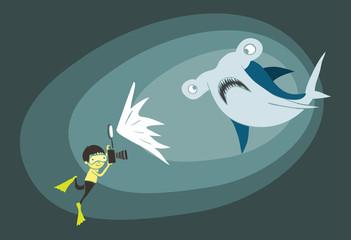 Underwater scene cartoon