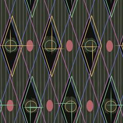 1950s Retro Mid-Century Seamless Pattern