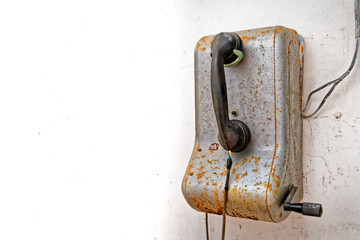 Old disused industrial telephone