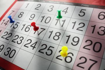 Calendar appointment date