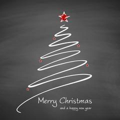 Weihnachten | Merry Christmas and a happy new year auf Schiefertafel