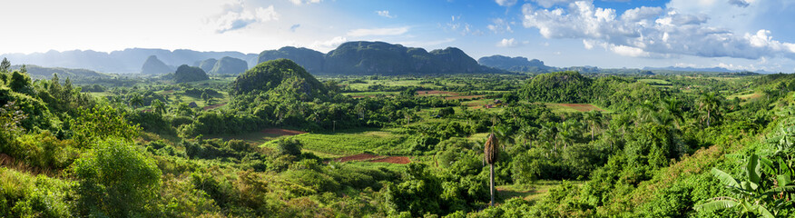 panorama of valley of Vinales,Cuba