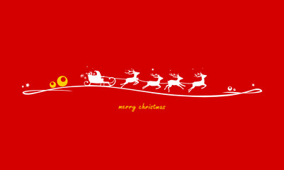 Weihnachten Rentierschlitten