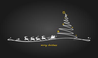 Weihnachtsbaum und Rentiere