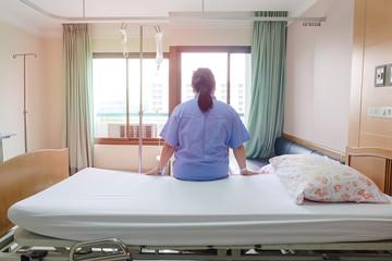 patients women saline drilling in hospital.