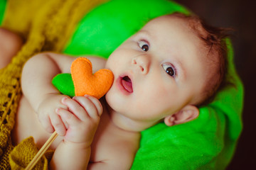 amazing  little  baby  playing with toy
