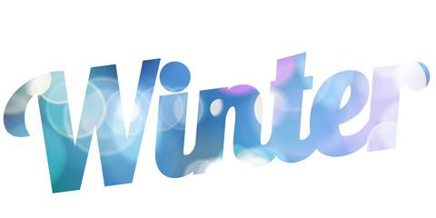 Hello Winter white vector card.