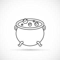 Witch cauldron outline icon