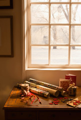 Christmas composition with gift box
