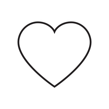 Heart outline icon vector