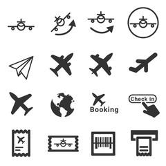 Plane icons . Vector illustration icon set.