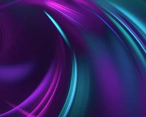 Wall Mural - purple abstract wave psychedelic background