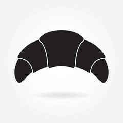 Croissant icon isolated on white background. Vector illustration.
