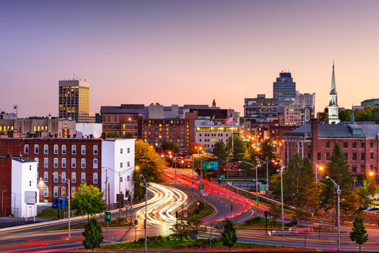 Worcester, Massachusetts Skyline