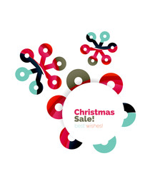 Christmas and New Year geometric paper design banner