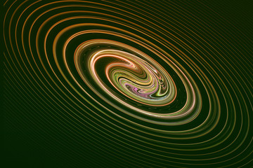 The image of the fractal Spiral on the black background.