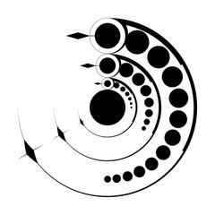 alien crop circle, complex sacred geometry, stencil, vector