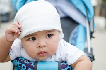 Little Asian baby boy