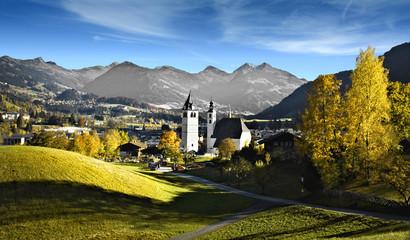 Blick auf Kitzbühel (Tirol) Wall mural