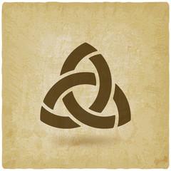 triquetra symbol old background
