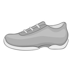 Men sneakers icon. Gray monochrome illustration of men sneakers vector icon for web