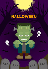 Halloween party monster character_Frankenstein