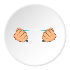 Hands stretch expander icon. Cartoon illustration of hands stretch expander vector icon for web