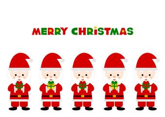 Merry Christmas サンタクロース プレゼント イラスト