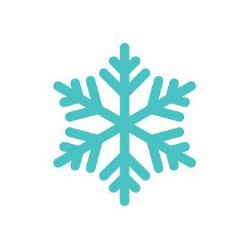snowflake freeze winter blue white simple icon