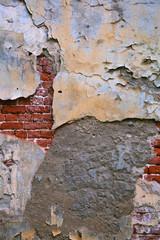 cracked concrete vintage brick wall background. grunge background