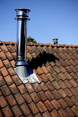 Conduit de cheminée sur toiture