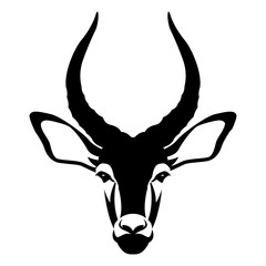 impala buck head face vector illustration style Flat