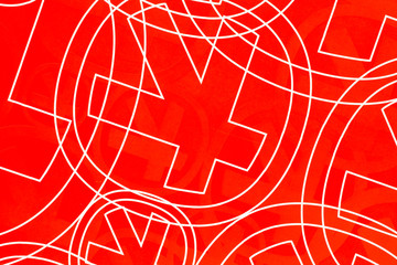 Background. Graphic pattern on red