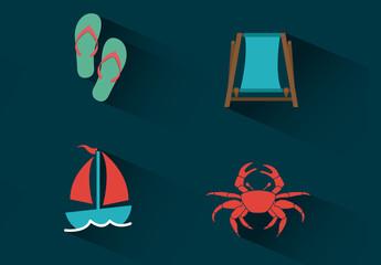 4 Beach Icons