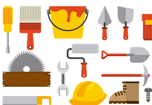 26 Tool, Construction, and Painting Icons