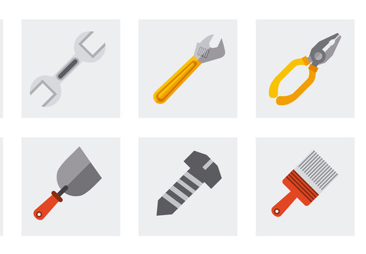 24 Tool, Construction, and Painting Icons