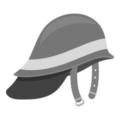 Firefighter Helmet icon monochrome. Single silhouette fire equipment icon from the big fire Department monochrome.