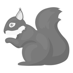 Squirrel vector icon in monochrome style for web