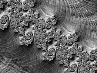 Abstract texture and spirals - digitally generated image