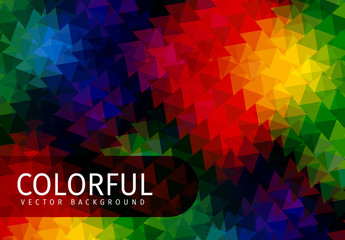 Dark Tone Multicolored Polygonal Pattern 2