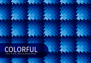 Dark Blue Tone Polygonal Pattern