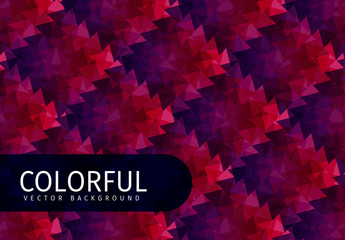 Dark Red Tone Polygonal Pattern