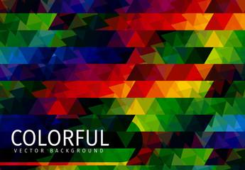 Dark Tone Multicolored Polygonal Pattern 2