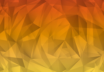 Warm Tone Gradient Polygonal Pattern